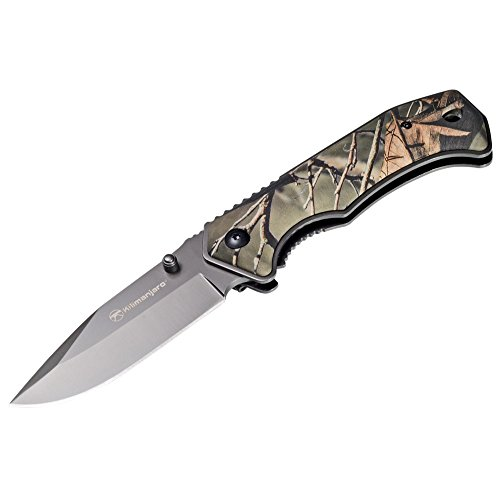Kilimanjaro Victus 7-Inch Drop Point Hunting Knife, Camo