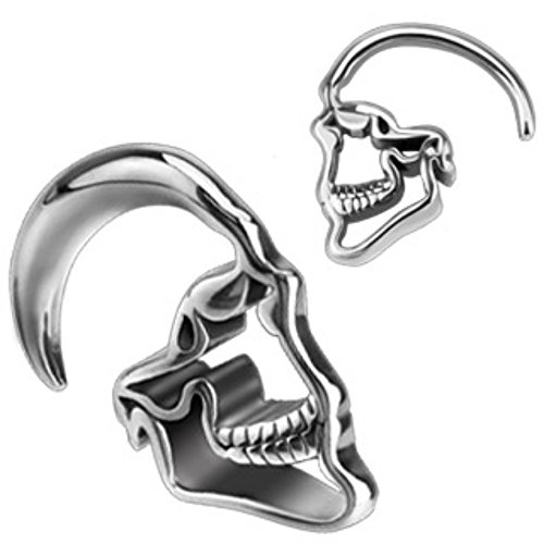 Skull Hanging 316L Surgical Steel WildKlass Taper (Sold as a Pair)