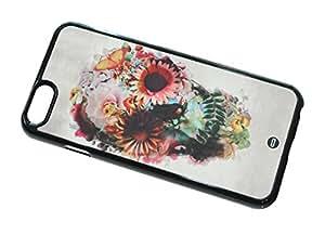 1888998510782 [Global Case] Garden Bones Flower Pattern Flowery Floral Flowers Roses Dead Mystic Dark Black Colorful Trendy Blooming Skull (BLACK CASE) Snap-on Cover Shell for Samsung Galaxy Mega 5.8 I9152