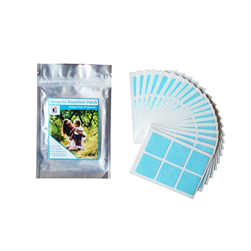 120-COUNT Light Blue Resealable Mosquito Patch Repellent | 24-HOUR PROTECTION | All Natural & Non-Toxic | Deet-Free | Keeps Insects AWAY (Light Away Bulbs Bugs Keep That)