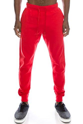 JC DISTRO Mens Hipster Hip Hop Drawstring Slim Fit Jogger Sweatpants - Various Colors