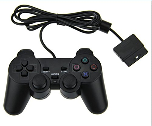 PS2 Wired Game Controller for Sony Playstation 2 Black