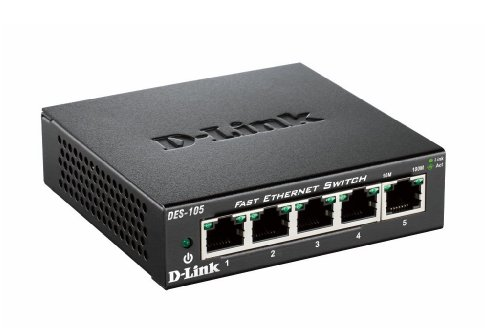 D-Link DES-105/E Fast Ethernet Switch (5-Port) Metall