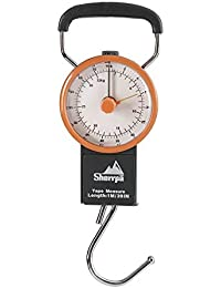 Travel Luggage Manual Scale, Suitcase Weighting Scale 75 lb / 32 kg (Charcoal/Orange)