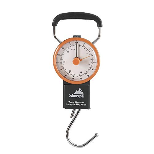 - Sherrpa Travel Luggage Manual Scale, Suitcase Weighting Scale 75 lb / 32 kg (Charcoal/Orange)