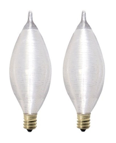 Bulbrite 40C11S Spunlite Chandelier 40W Satin, Candelabra Base - 2 Pack ()