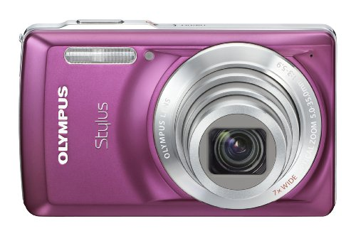 Olympus Stylus 7030 14 MP Digital Camera with 7x Wide Angle Dual Image Stabilized Zoom and 2.7-inch LCD (Purple) (Old Model)