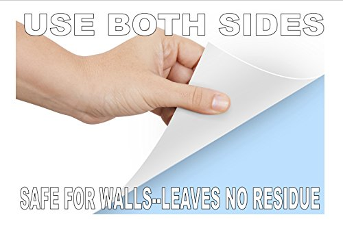 Wizard Wall Self Adhesive Dry Erase Sheets, Patented Static Adhesive Technology, Reusable and Self Cutting Sheets, 27.5'' x 25' Roll, White, 6-Pack by Wizard Wall (Image #2)