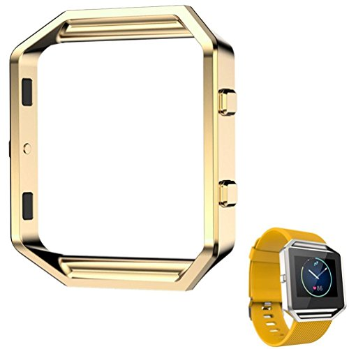 rumasr-luxury-stainless-steel-watch-replace-metal-frame-watch-holder-for-fitbit-blaze-smart-watch-go