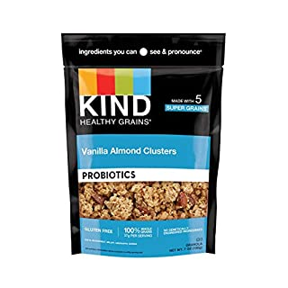 KIND Healthy Grains Clusters, Vanilla Almond, Gluten Free, Low Sugar, 7 Oz, 6Count