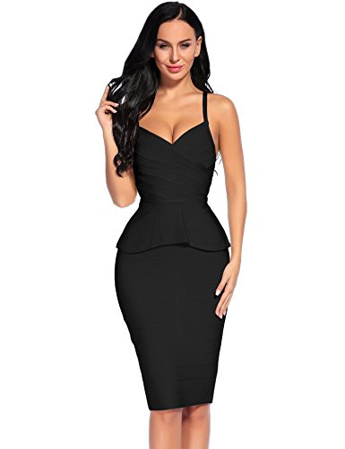 Buy black peplum dress size 24 - 4