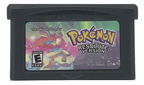 Pokemon Resolute Version   Made For Nintendo Game Boy Advance   Homebrew   Hack   Fan Translation  Video Game   Game Boy