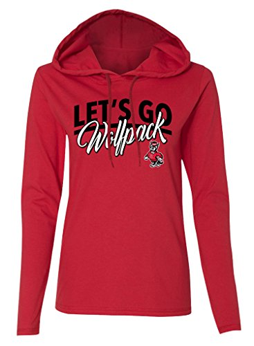 Ncaa North Carolina State Wolfpack Womens Long Sleeve Hooded T Shirt  Red  X Large