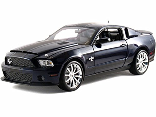 2010 Ford Shelby GT500 Super Snake, Blue w/ Black Stripes - Shelby SC346BU - 1/18 Scale Diecast Model Toy Car