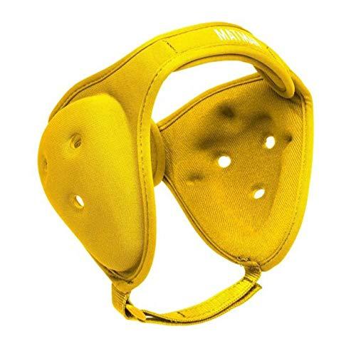 gold Adult Matman Ultra Soft Adjustable Wrestling Head Gear, Ear Guard, Youth or Adult
