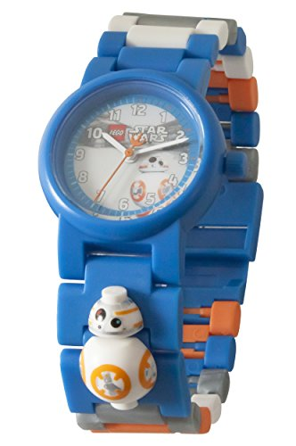 - Lego Star Wars 8020929 BB-8 Kids Minifigure Link Buildable Watch | Blue/Orange| Plastic | 25mm case Diameter| Analogue Quartz | boy Girl | Official