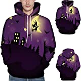 Hot Sale - WUAI Halloween Costumes for Adults Men Women Party Dress Up 3D Print Couples Slim Fit Hoodies Sweatshirt