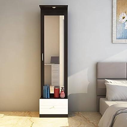 HEKAMI Particle Wood Interiors Dressing Unit (Two tone), Standard Size (hekami002, Walnut & White)
