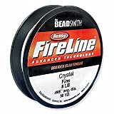 Crystal FireLine Braided Beading Thread .009 Inch / 8 Pound (50 Yard Spool) by Fireline