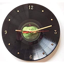 Abbey Road Record Clock - Handmade 12 wall clock made with the ACTUAL ICONIC Beatles record.