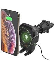 iOttie Auto Sense Qi Wireless Charging CD Slot + Air Vent Combo Car Mount || for iPhone, Samsung, Moto, Huawei, Nokia, LG, Smartphones