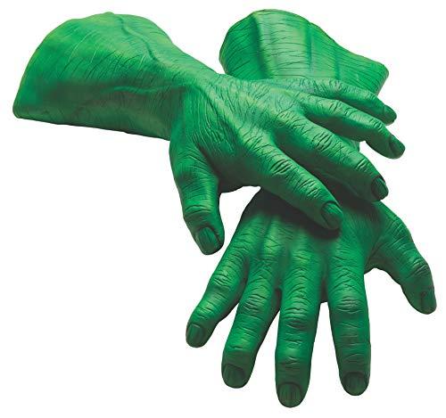 Rubie's Men's Marvel Universe Adult Latex Hulk Hands, Multi, One Size