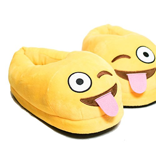11 Emoji Inverno Pantofole Morbido 12 Swallowuk Caldo Unisex Peluche faznwzqT8