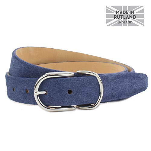 Jeans Nickel British Belt Royal Belt Ladies Tone Or Suede Co Buckles Gold Italian Blue Skye Edged Strap 3cm Feather Shiny 6xwn0CI4q