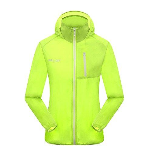 Green Crab Damen Lightweight Windbreaker Jacke Wasserdicht Atmungsaktiv  Quick Dry Mantel Grün HGyrykUuA