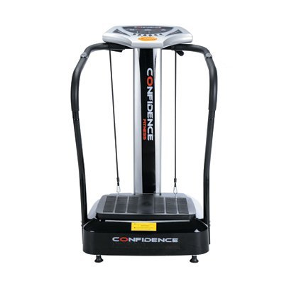 Confidence Fitness Slim Full Body Vibration Platform Fitness Machine, Black (Certified Refurbished) by Confidence
