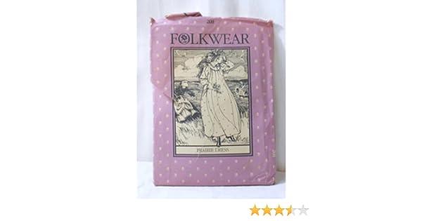 e431ffe70e Amazon.com  Prairie Dress and Nightgown Pattern Folkwear 201 Ajustable for  all Sizes  Arts