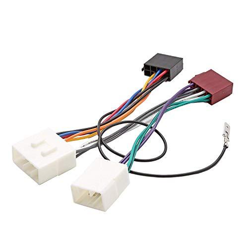Inex ISO Wiring Harness Connector Adaptor Stereo Radio Lead loom for Mazda 121:
