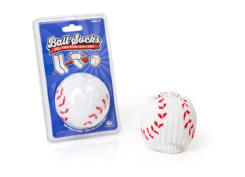 [Suck UK Sports Ball Baseball Socks] (Mens Sports Costume Ideas)