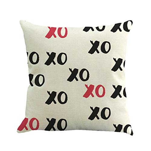 Love Pillowcase Valentines Day Throw Pillow Covers Sweet Heart Arrow Pillow Case Cover 18x18'' Romatic Cushion Cover Linen Decorative Pillow Case Pecfect Gift for Lovers (D)