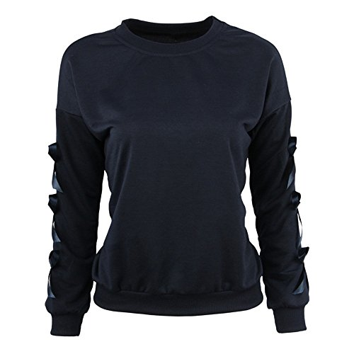 Ladies Long Sleeve Tops,Kulywon Fashion Womens Long Sleeve Sweatshirt O Neck Causal Tops Blouse(XL/US 14,Blue)