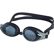 Rx Swim Goggles (Power +3.0) Black (for Kids, Teen & Adults includes all 3 bridge sizes S,M,L)