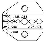 Greenlee  2653 SMA, SMB, Mini-59 BNC/TNC, Mini-UHF - RG58/174 Die
