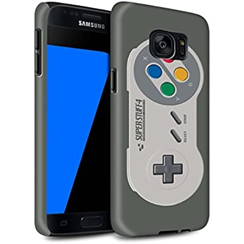 STUFF4 Matte Tough Shock Proof Phone Case for Samsung Galaxy S7/G930 / Super Nintendo Design / Games Console Collection Sales