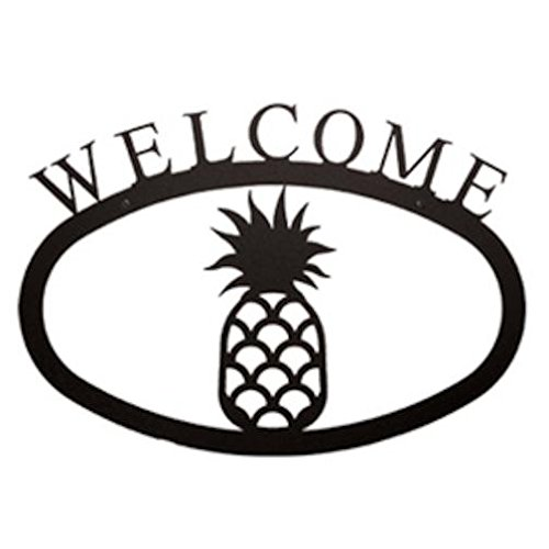 (FindingKing Pineapple Welcome Sign, Wrought Iron, Small Version, 11.5