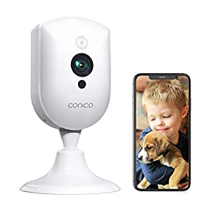 Flashandfocus.com 41Dw-qMdF7L._SS300_ Baby Monitor, Conico 1080P Home Security Indoor Camera with Sound Motion Detection IR Night Vision, Pet Camera with 2…