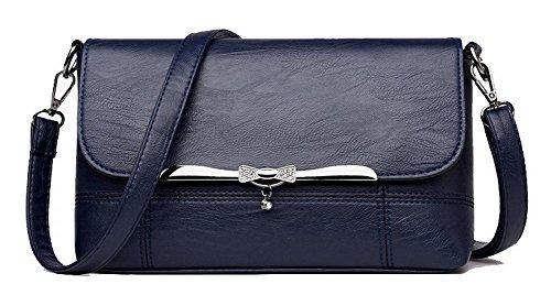 VogueZone009 Femme Sacs fourre-tout Travail Mode Cartable Sacs ¨¤ bandouli¨¨re, CCAFBO181576, Rouge Vineux Bleu