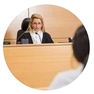 alfombrilla de ratón Abogado escuchar al juez - ronda - 20cm