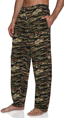 Fun Boxers Mens Hunting Fun Prints Pajama & Lounge Pants, Tiger Camo, ()