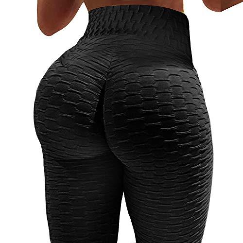 3c2e58a9ff923 Women's Butt Lift High Waist Yoga Pants Tummy Control Workout Trousers  Ultra Elastic Sports Stretchy Leggings