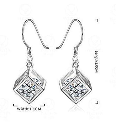 EIGA Women's Cubic Zirconia Crystal Dolphin Stud Earrings