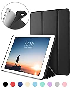 DTTO New iPad 9.7 Inch 2018 / 2017 Case, Ultra Slim Lightweight Smart Case Trifold Cover Stand with Soft TPU Back Cover for Apple iPad 5th / 6th Generation [Auto Sleep/Wake] - Black