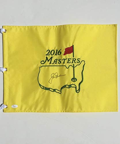 Jack Nicklaus A 10 Autograph Dead Center Signed 2016 Masters Flag Z50526 JSA Certified Autographed Pin Flags
