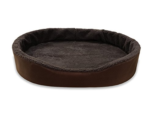 Dog Bed King USA Cuddler Nest Pet Beds. X-Large (Sleep Area: 38 x 26) Brown Exterior/Imitation Brown Lambswool Interior. Nest Large Bed Cover