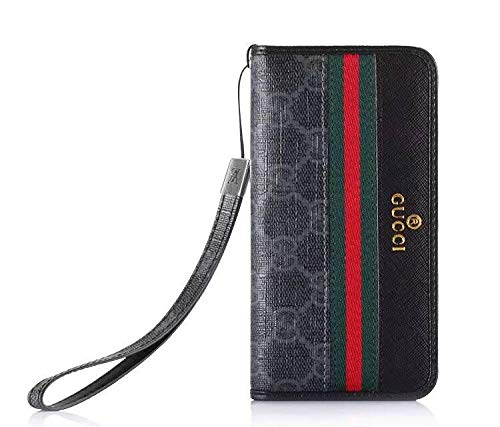 Galaxy S10 Flip Case -Elegant Luxury Leather Wallet Cover FILP Case Wristlet Strap Designed Compatible with Galaxy S10