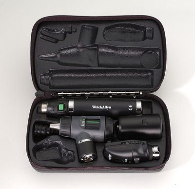 Ophthalmoscope Set Accessories (Welch Allyn 97200-MS Halogen Hex Diagnostic Set Including Coaxial Ophthalmoscope, Macro View Otoscope, Rechargeable, Hard Storage Case, Lithium-Ion Battery, IEC Plug Type-A, 3.5V)